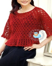 crochet so cute lace borlero for lady
