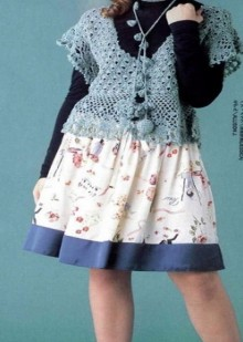 crochet spring tunic for girl, crochet pattern