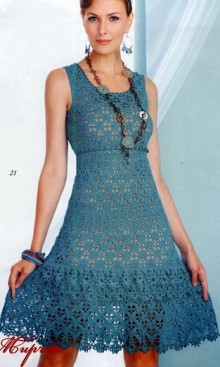 crochet summer lace dress for girl, crochet pattern