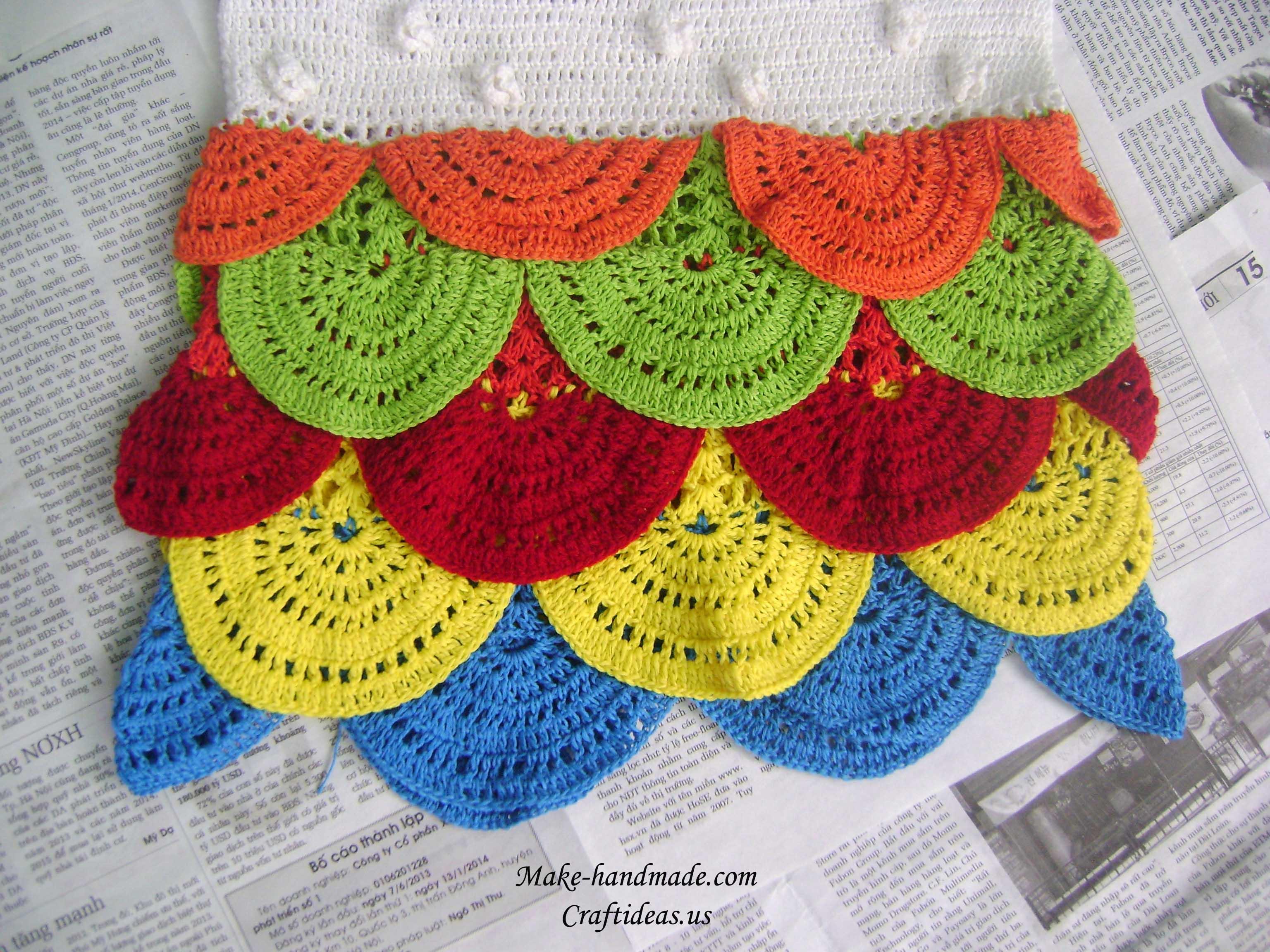 crochet the bottom of dress