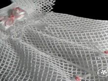 crochet white lace dress for little angel, crochet pattern