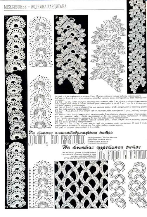 Фото схемы вязания кружева крючком