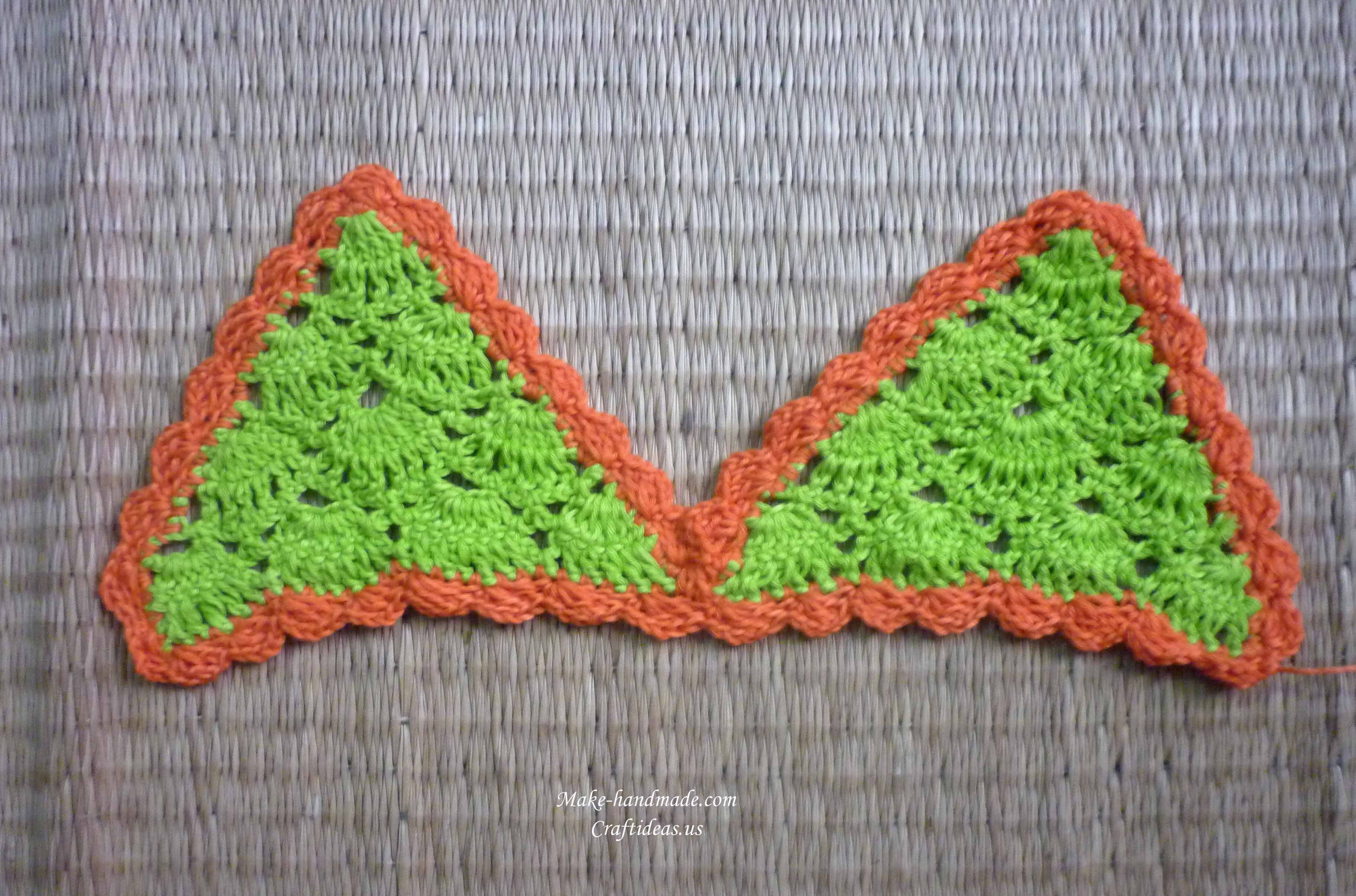 crochet baby bra