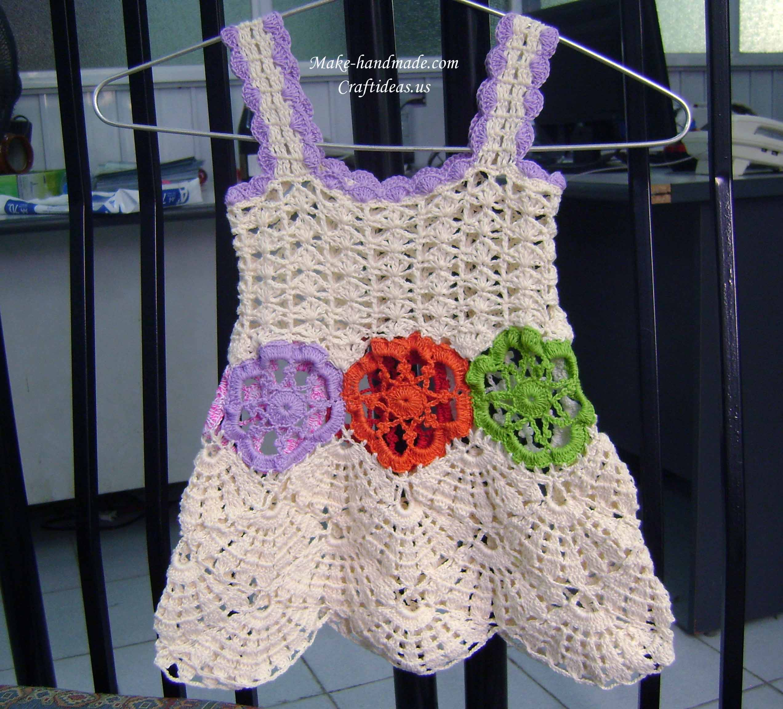 crochet baby dress ideas