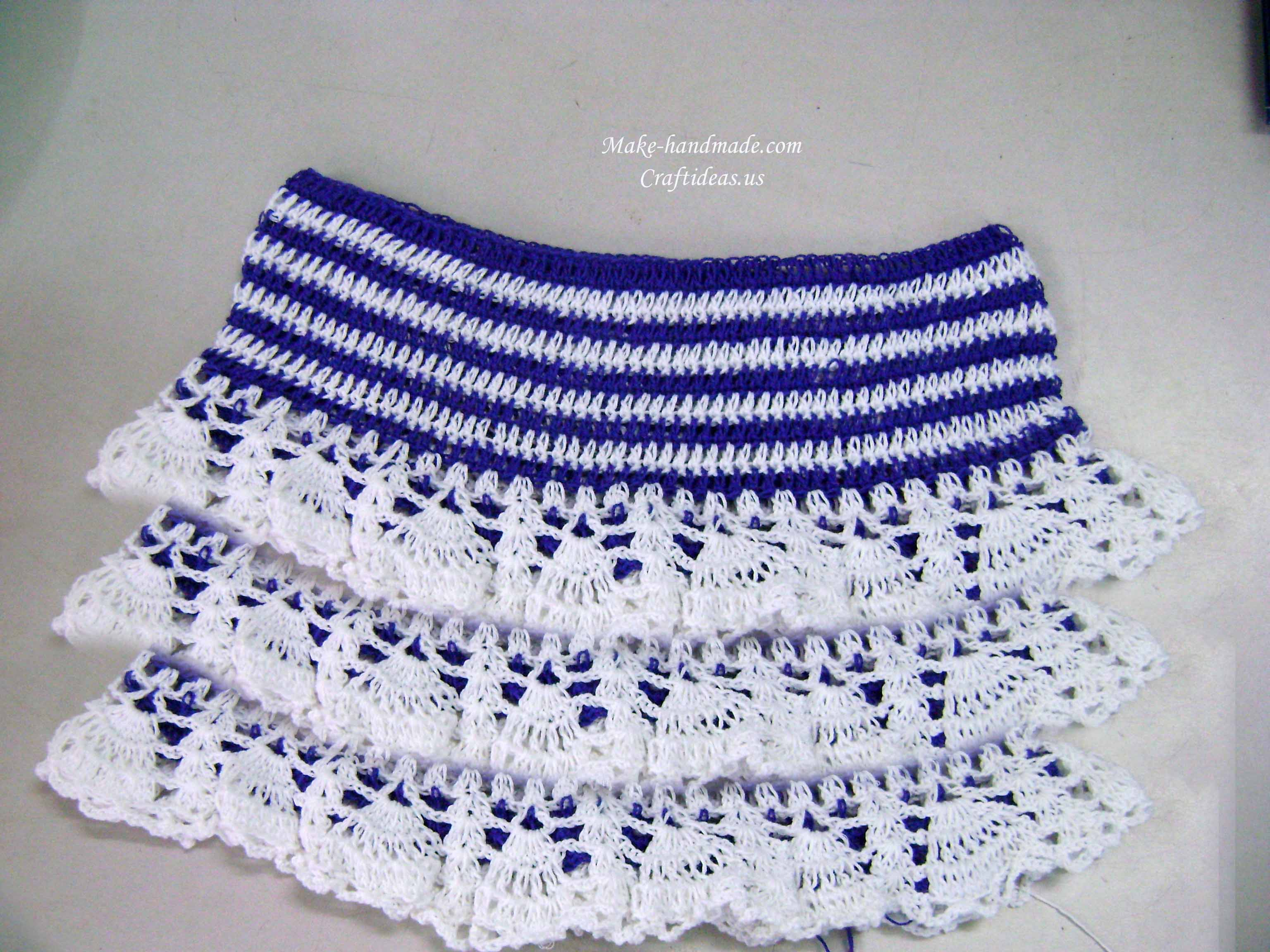 crochet baby layer skirt
