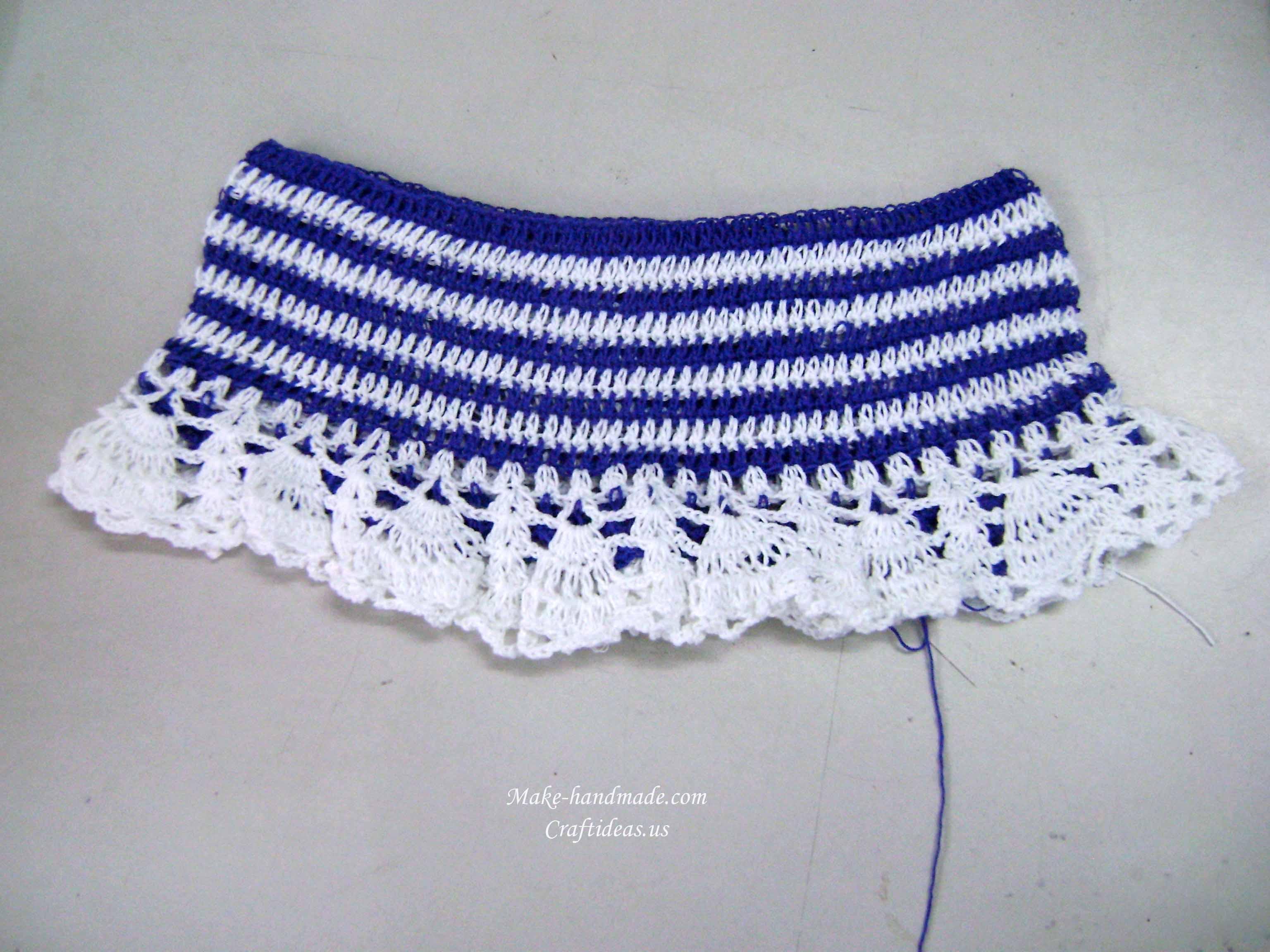 crochet baby skirt