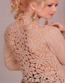 crochet beauty lace for pullover