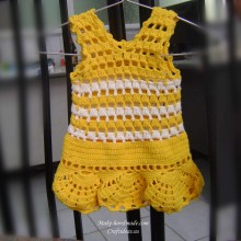 crochet baby dress for spring