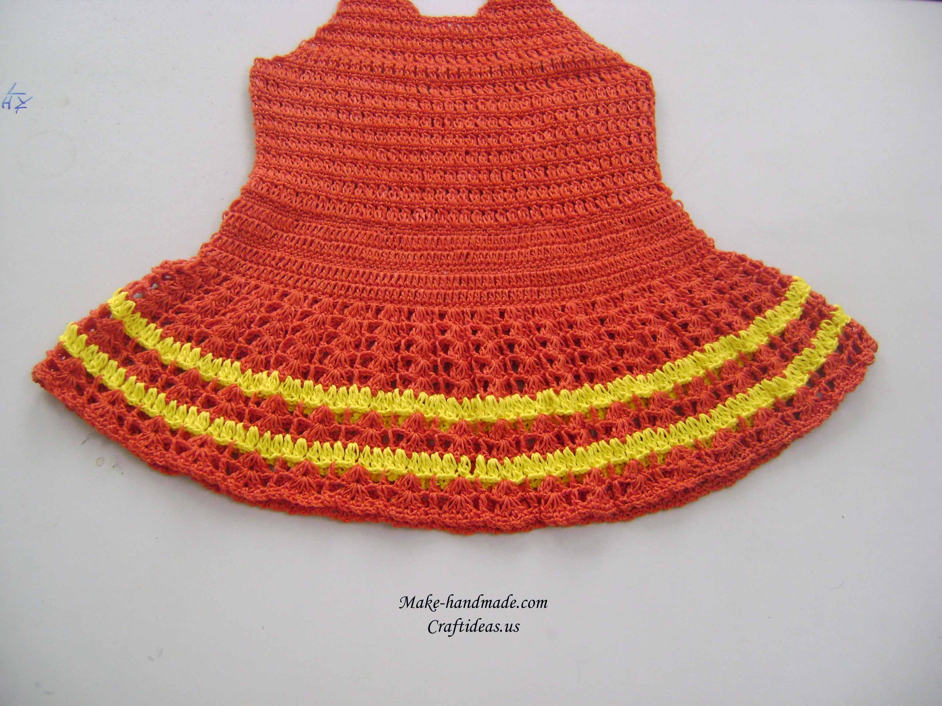 crochet easy baby dress