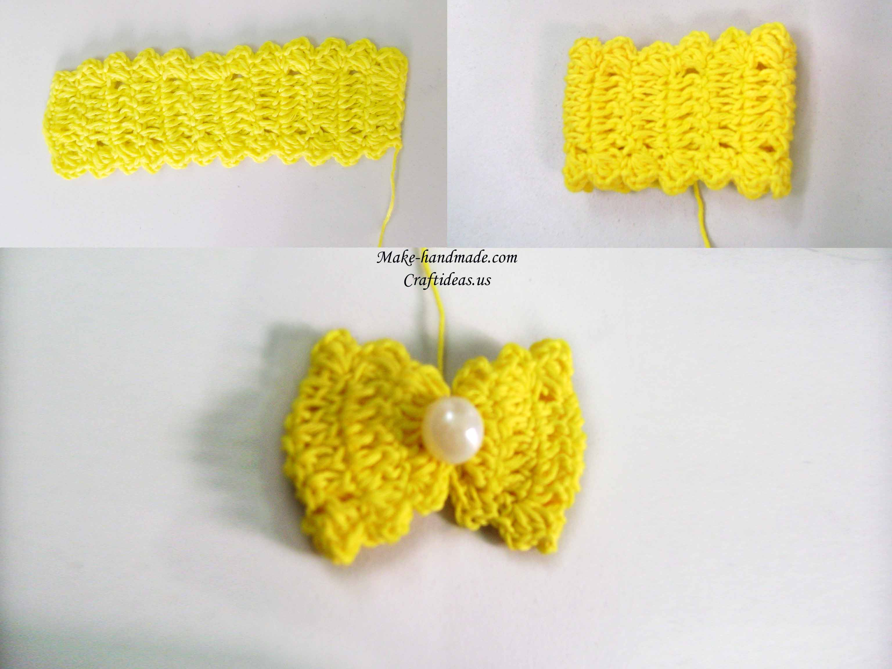 crochet easy bow photo tutorial