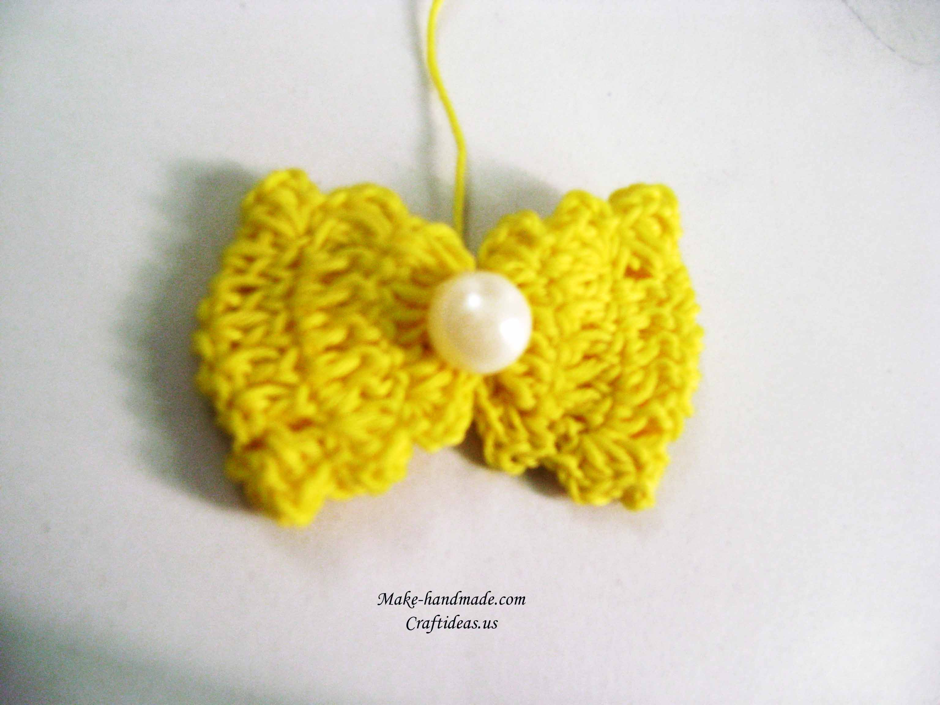 crochet easy bow