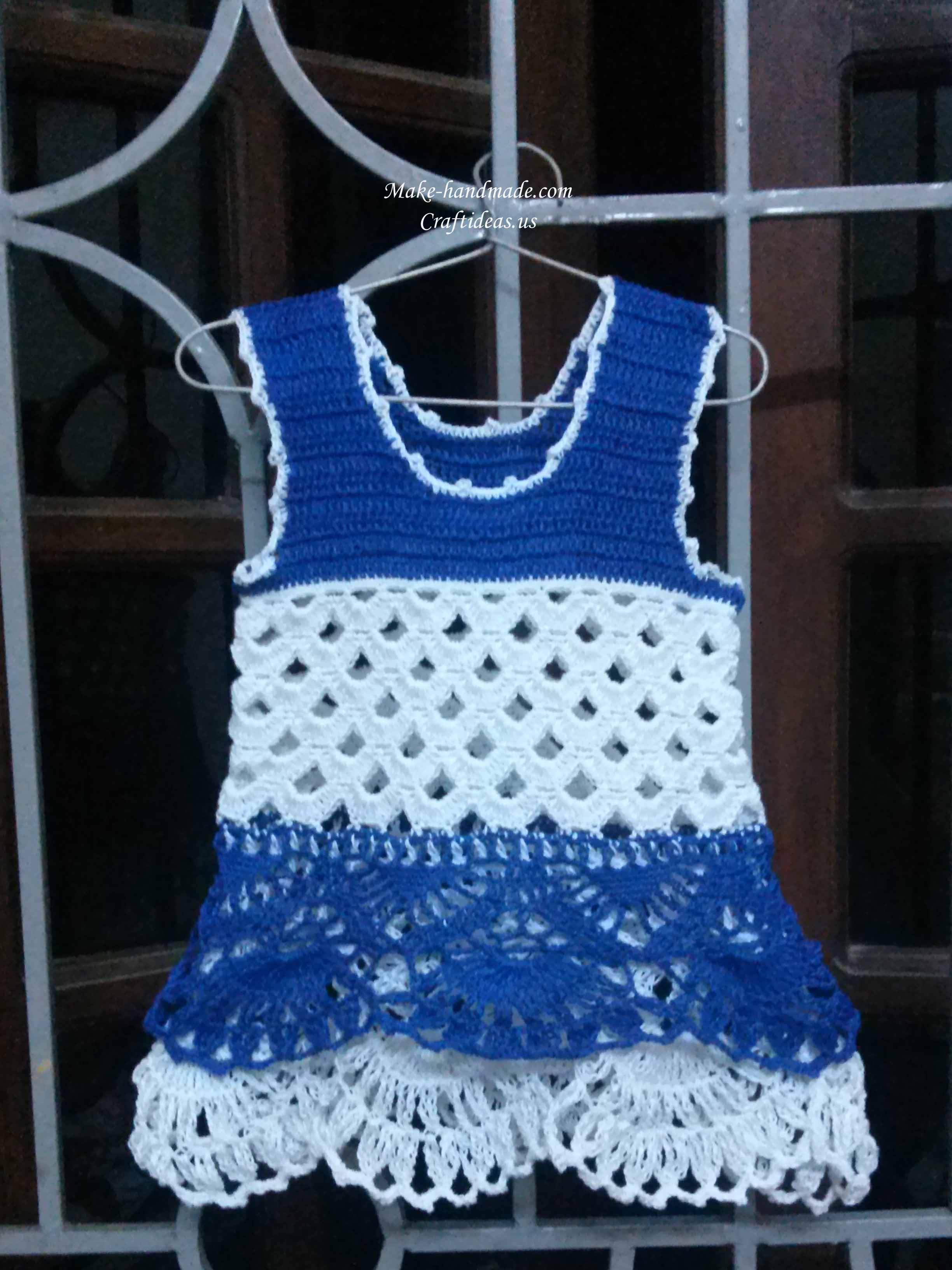 crochet easy summer baby dress