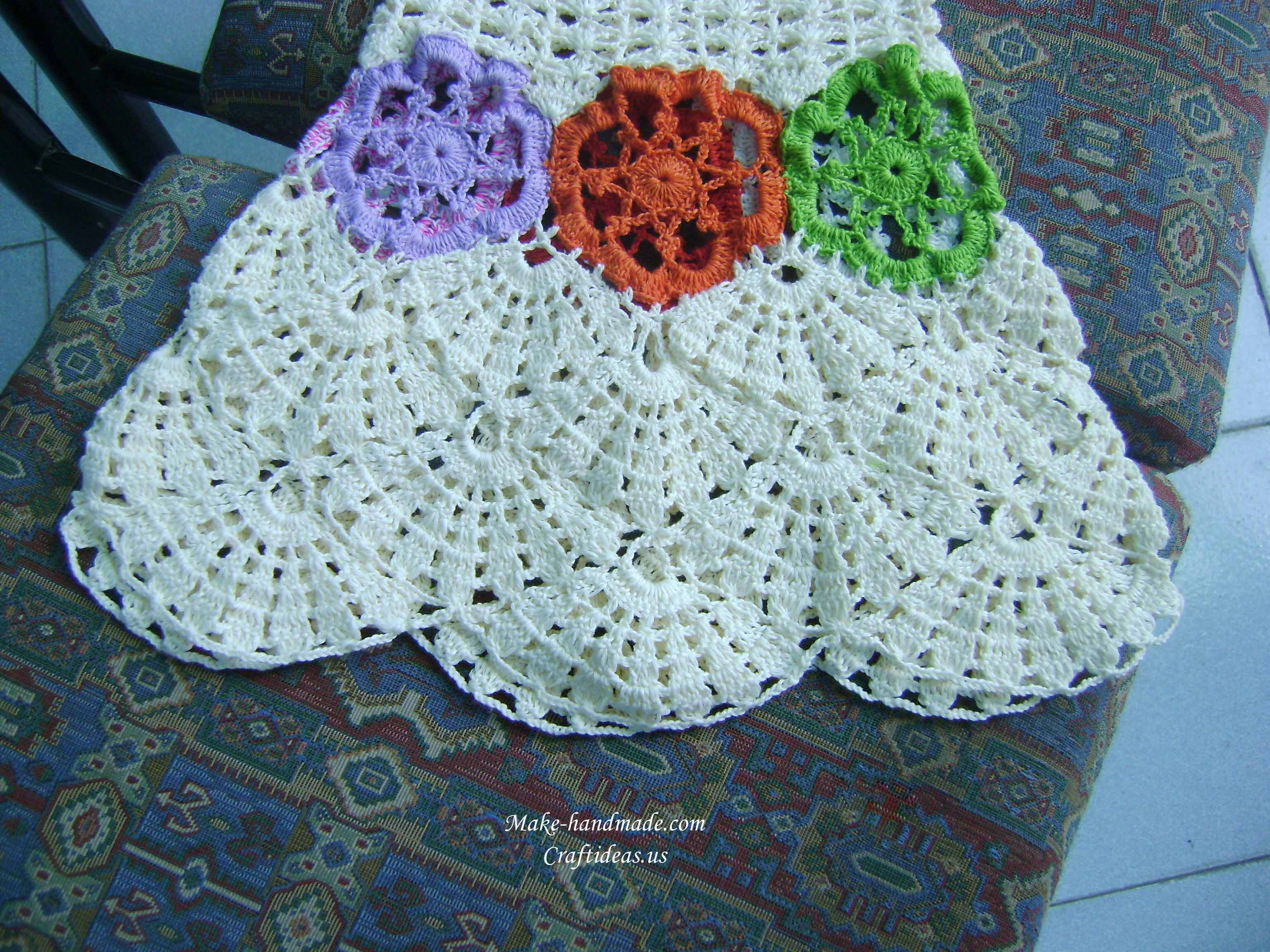 crochet flower dress for little girl