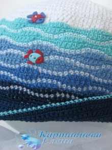 crochet marine hat for baby