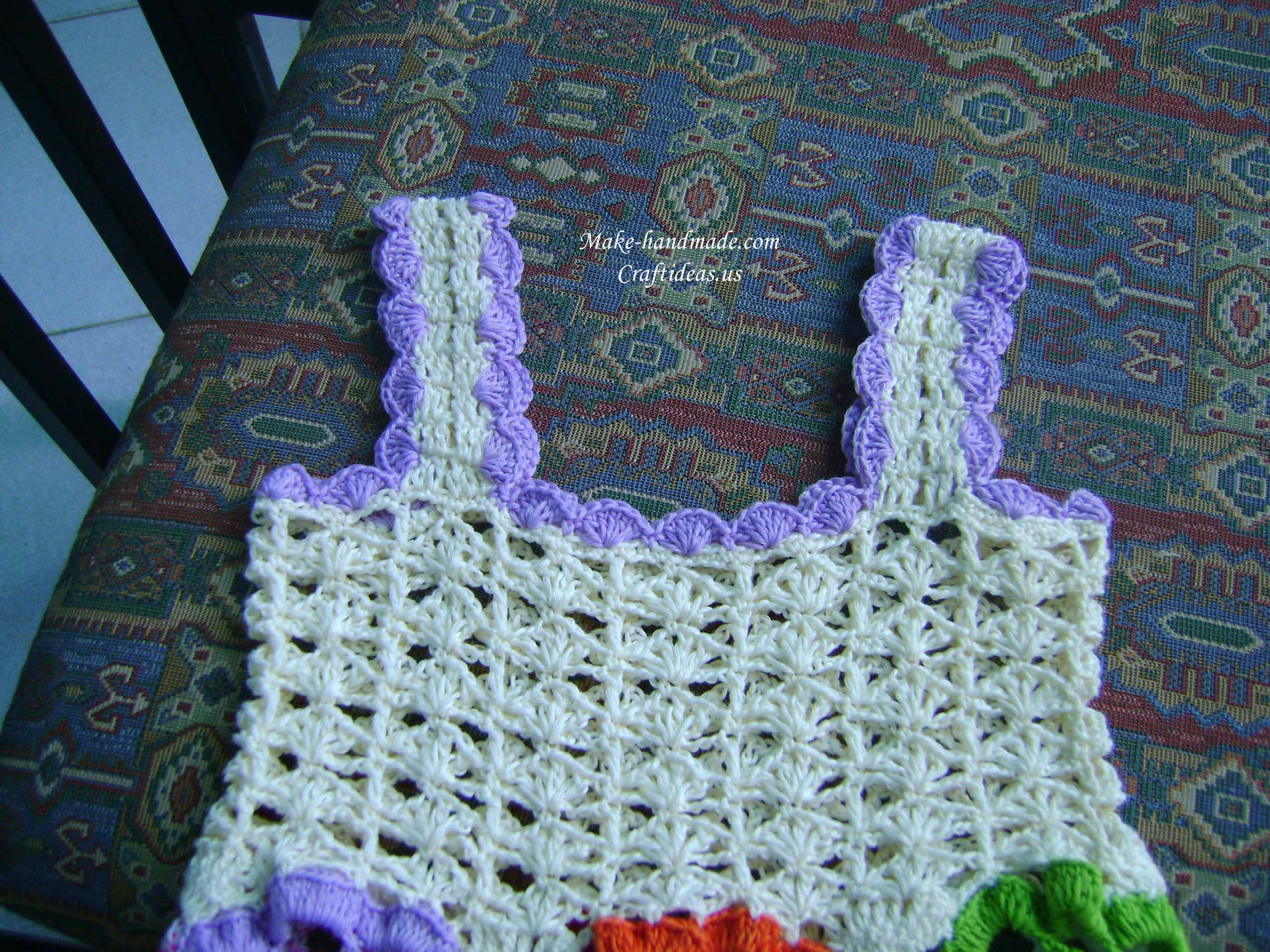 crochet top part for baby dress