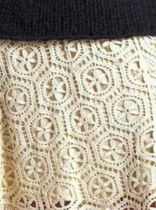 crochet white skirt motive, crochet pattern