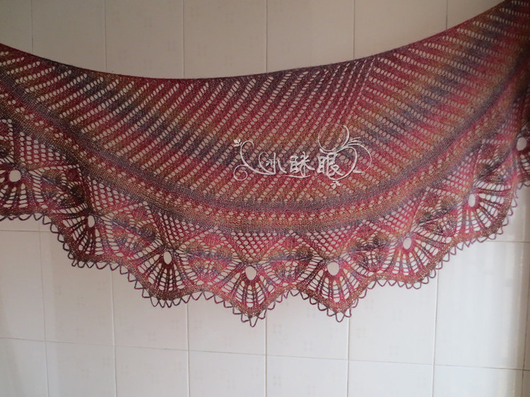 knitting so charming lace shawl for ladies
