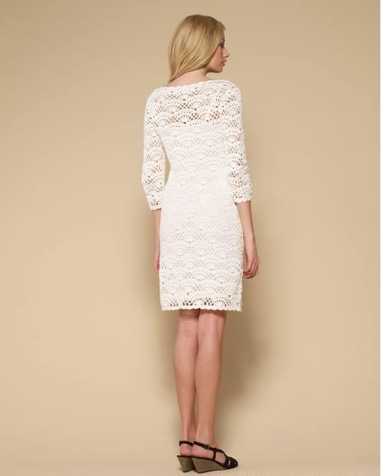 Crochet lace summer dress
