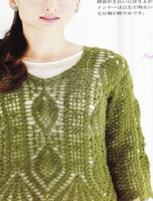 beauty pattern to crochet dress and pullover