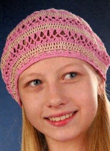 beret crochet for girls