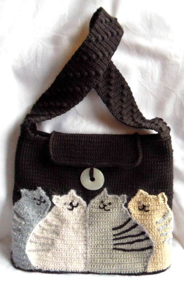 Crochet Bag Making : crochet and knitting so fun cats for handbag and fashion crochet and ...