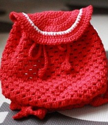 crochet baby backpack