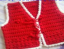 crochet baby flower jacket