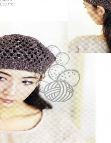 crochet beauty beret for mum and kids