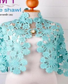 crochet beauty lace shawl