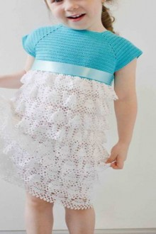 crochet charming dress for little girl