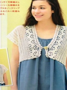 crochet charming summer bolero and vest