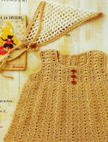 crochet cute dress for little girl