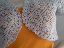 crochet diamond shapes for summer bolero and vest