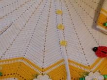 crochet fan cardigan for baby