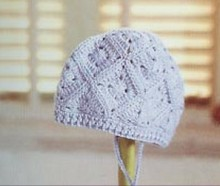 crochet hat with granny squares