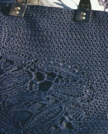 crochet irish lace for handbag