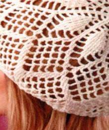 crochet lace beret