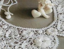 crochet lace collar of irish flower