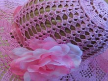 crochet lace heart summer hat