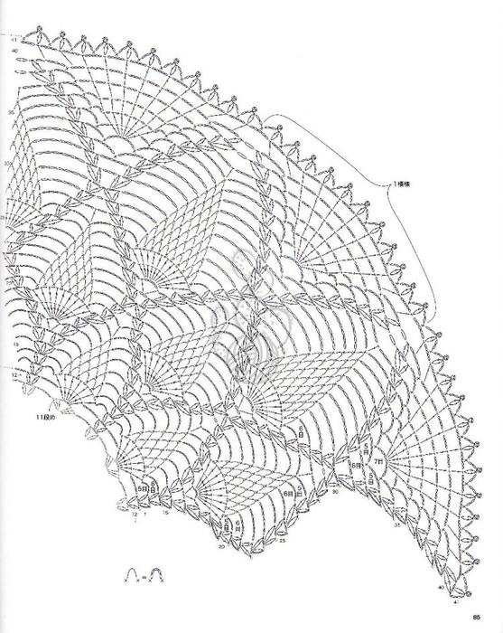 Crochet Lace Of Pineapple Shawl Make Handmade Crochet Craft