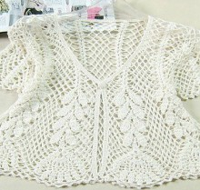 crochet lace summer cardigan for girl