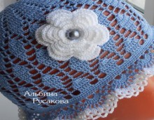 crochet lace summer hat