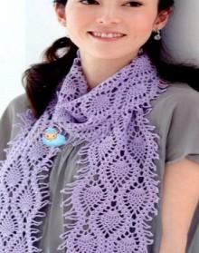 crochet pineapple scarf for girl