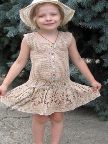 crochet pretty baby dress