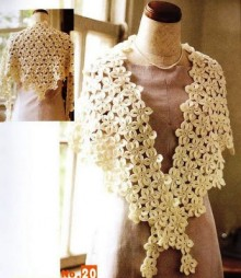 crochet pretty poncho and shawls with flowers stitch