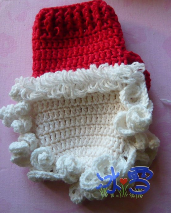 crochet santa mittens for kids make handmade, crochet, craft