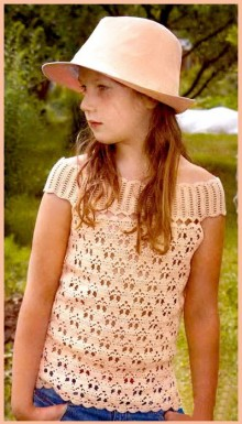 crochet spring top for little girl