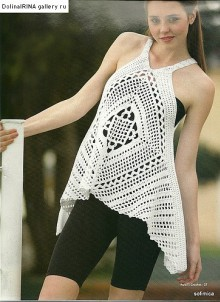 crochet stylish summer top for beach