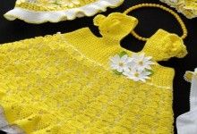 crochet summer baby dress