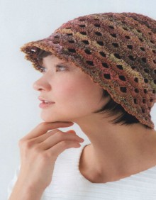 crochet summer lace hat for beach